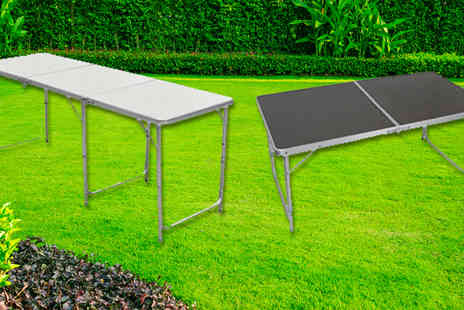 Mscomputers - 4ft White Folding Family Picnic Table - Save 72%