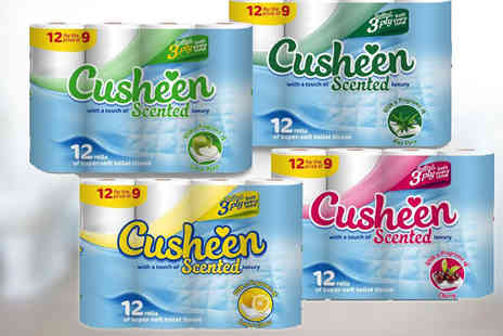 HK J and Y International Trading - 60 Cusheen Quilted Scented Luxury Three Ply Toilet Paper Rolls - Save 55%