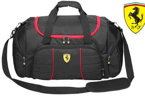 Brand Logic - Ferrari Overnight Or Kit Bag Black - Save 70%