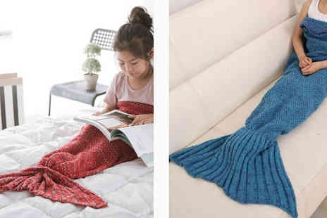 HK Betty Technology Co - Red Mermaid Tail Blanket 90cm - Save 89%