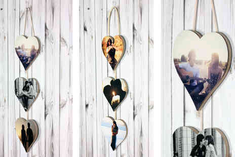 Yourperfectcanvas - 3pc Heart Photo Hanger - Save 77%