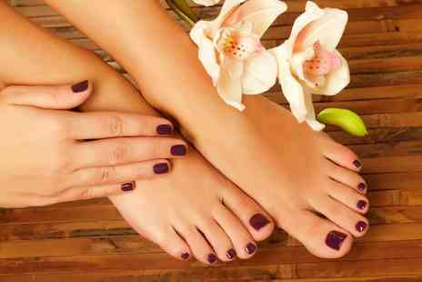 Val Beauty Nails - Shellac manicure or manicure and pedicure - Save 64%