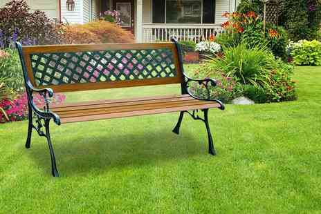 Groundlevel - A three seater garden bench - Save 69%