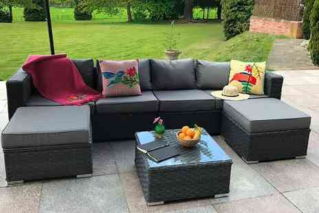 Dreams Living - A grey six seater sofa set Plus DELIVERY IS INCLUDED - Save 58%