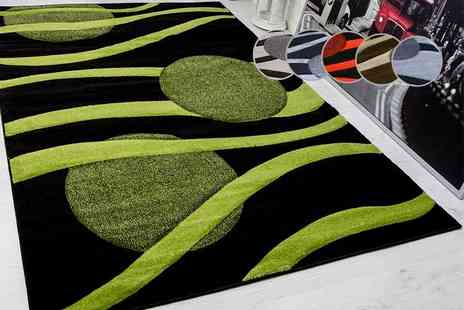 Serdim Rugs - Modern hand carved rug select from three sizes six colours - Save 49%