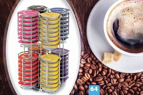 Home Empire - Rotating 52 Tassimo coffee pod holder - Save 73%