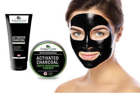 Tonk Stuff - A Carbone & Coco blackhead face mask and charcoal teeth whitening powder - Save 86%
