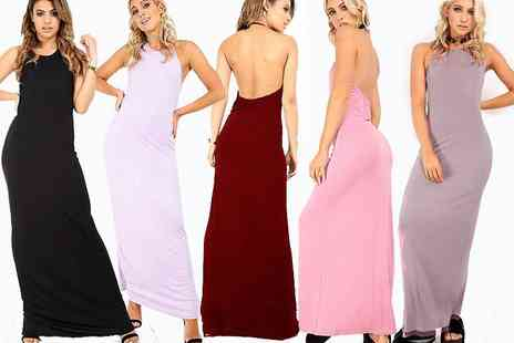 Be Jealous - A halter neck maxi dress with low back design pick your colour - Save 63%