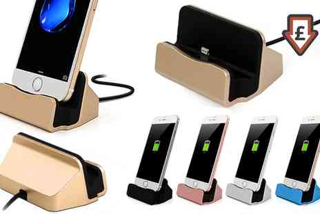 Groupon Goods Global GmbH - One or Two Desktop Charging Docks with Braided Cables - Save 62%