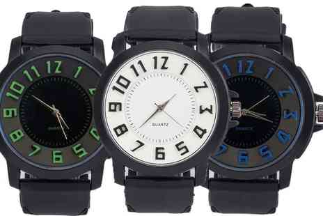 Groupon Goods Global GmbH - Chris Mens Watch with Silicone Strap - Save 77%