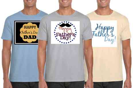 Groupon Goods Global GmbH - Mens Fathers Day Tees - Save 0%
