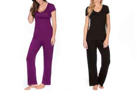 Groupon Goods Global GmbH - Womens Soft Touch Pyjamas Up to Size 34 - Save 69%
