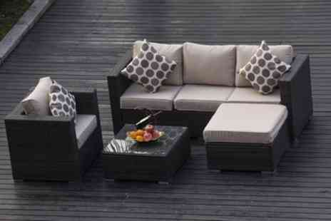 Groupon Goods Global GmbH - Five Seater Rattan Effect Garden Furniture Set With Free Delivery - Save 0%