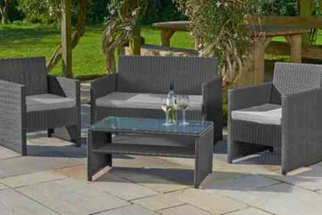 Groupon Goods Global GmbH - St Barts Four Piece Rattan Effect Garden Lounge Set - Save 66%
