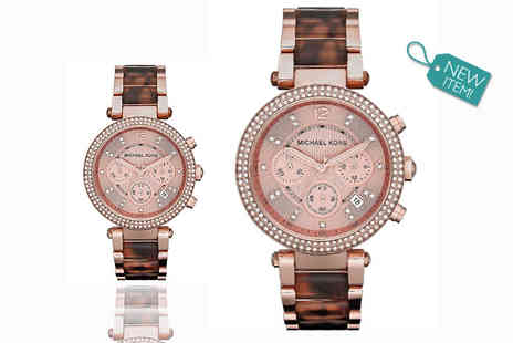 Gray Kingdom - Ladies Michael Kors MK5538 Parker chronograph watch - Save 48%