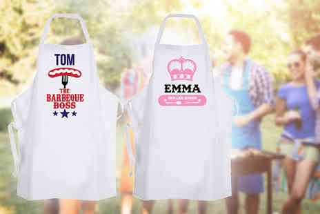 Deco Matters - Personalised BBQ apron choose from 6 designs - Save 60%