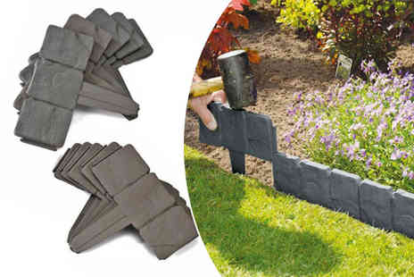 ViVo Technologies - 10 pack of stone effect lawn edging - Save 67%