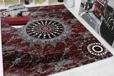Serdim Rugs - Ancient pattern rug select from three sizes, four colours - Save 49%