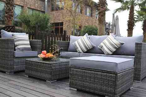 Dreams Living - Monaco five seater grey rattan sofa set - Save 64%
