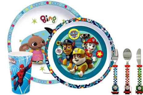Groupon Goods Global GmbH - Character Themed Dining and Cutlery Set for Kids - Save 60%