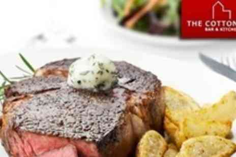 The Cotton Mill - Two Course British Meal For Two With Glass of Wine - Save 60%