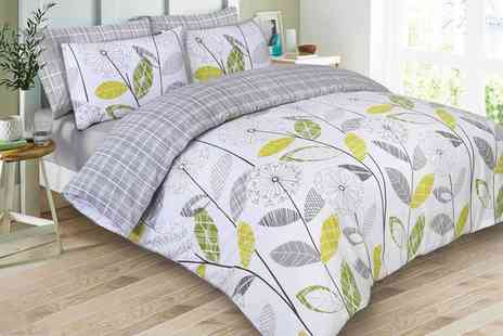 Groupon Goods Global GmbH - Dreamscene Allium Duvet Cover and Pillowcase Sets - Save 75%