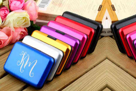 Shop Sharks - Personalised card holder choose from nine colours - Save 73%