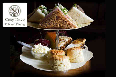 Cosy Dove - Afternoon tea for two with macaroons and a mini bottle of Prosecco each - Save 38%