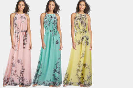 Jewleo - Floral maxi dress choose from three gorgeous colours - Save 76%