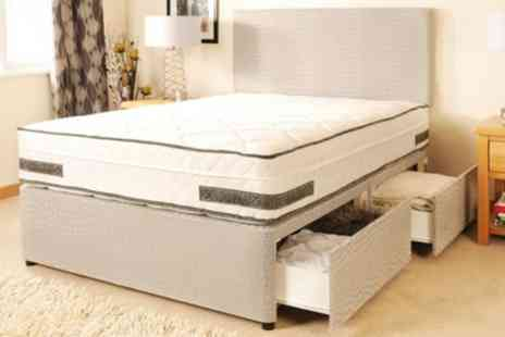 Groupon Goods Global GmbH - Boston Divan Set with Orthopaedic Mattress With Free Delivery - Save 79%