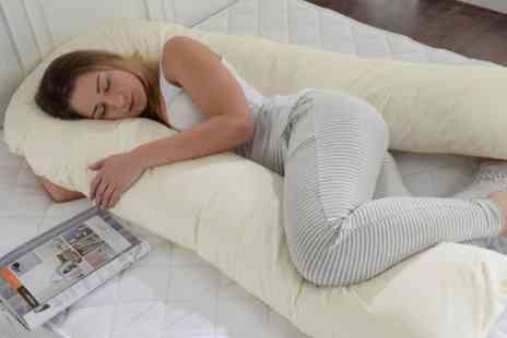 Groupon Goods Global GmbH - Big U Shape Full Body Support Pillow with Removable Zip Cover - Save 49%