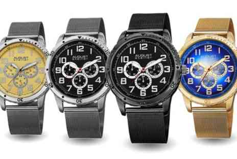 Groupon Goods Global GmbH - August Steiner Mens Watches in Choice of Colour - Save 86%