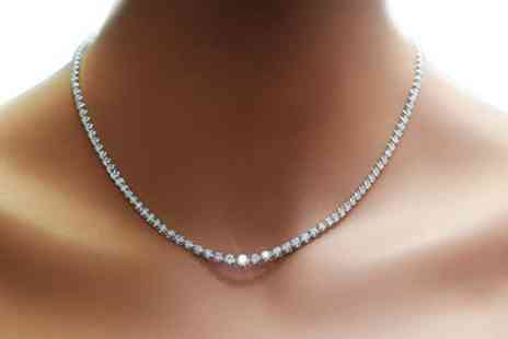 Groupon Goods Global GmbH - 42 Carat Crystal Zenith Necklace - Save 71%
