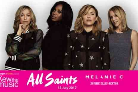 Kew The Music - Two general admission tickets to see All Saints, Melanie C and Sophie Ellis Bextor on 13 July - Save 55%