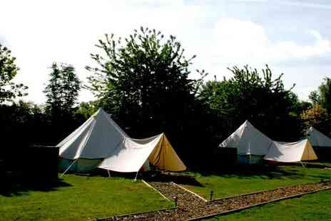 Oaklodge Retreat - Two night bell tent stay for up to four people with a standard breakfast, spa access and more - Save 58%
