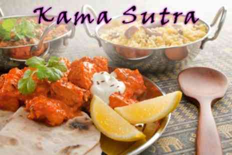 Kama Sutra - Indian Meal For Two Including Mains With Rice and Naan to Share for £14 (Up to £36.95 Value) - Save 62%