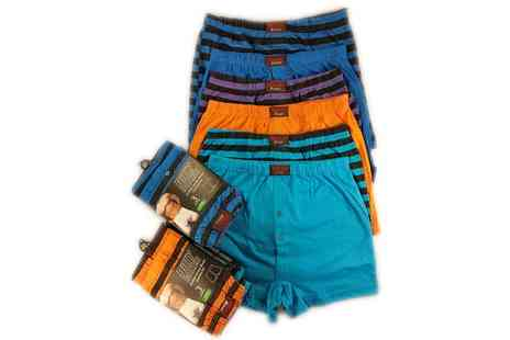 Groupon Goods Global GmbH - 12 Pack of Mens Striped Boxer Shorts - Save 50%
