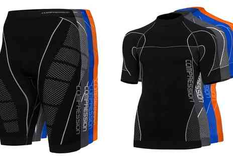 Groupon Goods Global GmbH - Compression T Shirt, Shorts or Both - Save 66%