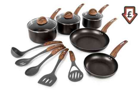 Groupon Goods Global GmbH - Tower Five Piece Pan Set with Five Piece Utensil Set Include Free Delivery - Save 73%