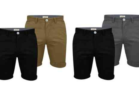 Groupon Goods Global GmbH - Stallion Two Pack Cotton Bedford Chino Shorts - Save 47%