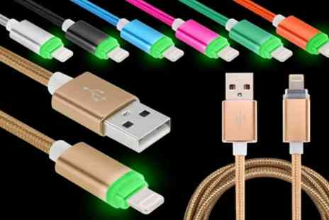 Groupon Goods Global GmbH - 1m Braided Lightning Cable with LED Indicator - Save 67%