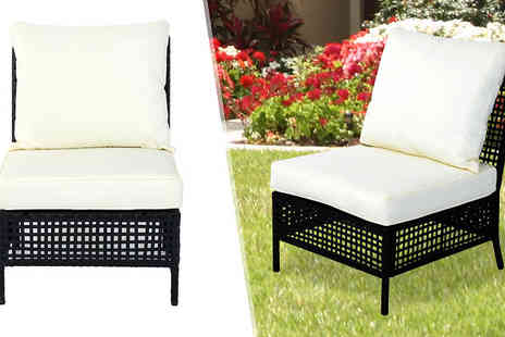 MHSTAR - Outsunny Rattan Armless Chair - Save 40%