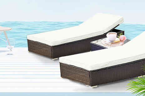 MHSTAR - Three Piece Rattan Lounger Set - Save 0%