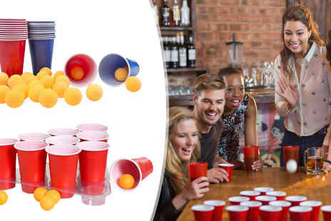 Direct 2 public - 48 Piece Ultimate Beer Pong Drinking Game - Save 80%