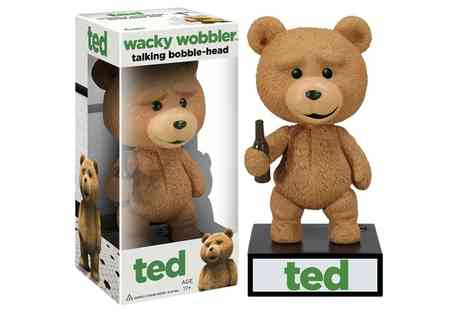 Groupon Goods Global GmbH - One or Two Funko Wacky Wobbler Talking Ted Bobble Head Figures - Save 59%