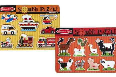 Groupon Goods Global GmbH - Melissa and Doug Sound Puzzles - Save 0%