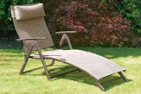 Groupon Goods Global GmbH - Suntime Bronze Sunlounger With Free Delivery - Save 0%