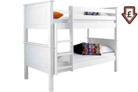 Groupon Goods Global GmbH - Vancouver Bunk Bed Frame or with Two Spring Mattresses With Free Delivery - Save 61%