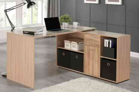 Groupon Goods Global GmbH - Cavendish Corner Desk with Storage - Save 52%