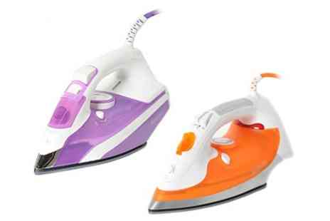 Groupon Goods Global GmbH - Brabantia Steam Iron with Ceramic Soleplate 2200W, 2400W or 2600W - Save 6%
